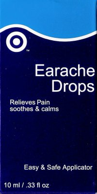 Target's homeopathic ear drops (front of package)