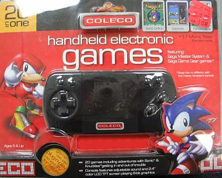 [Coleco handheld package]