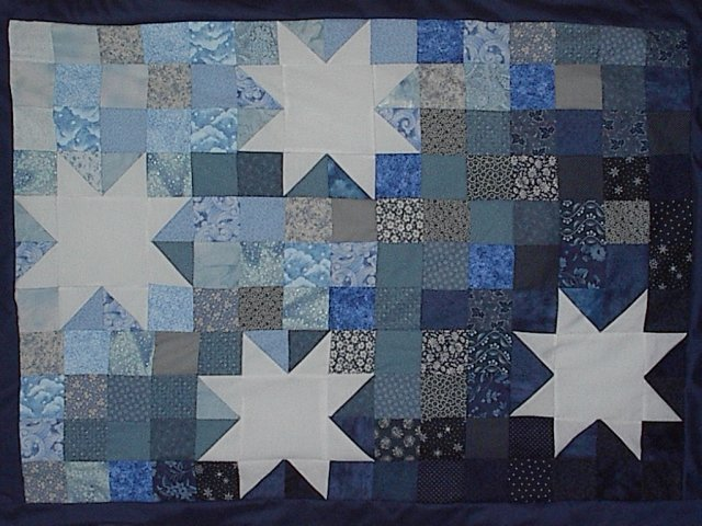 [Starry Night wall hanging]