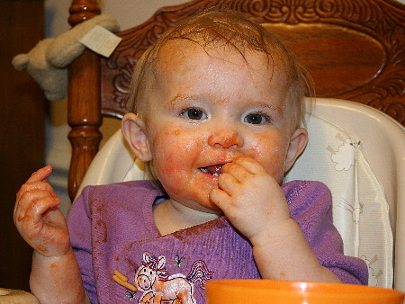 "[Cate ""eating"" her spaghetti]"