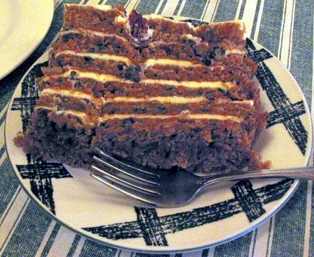 [Carrot cake at the Eatery at the Depot]