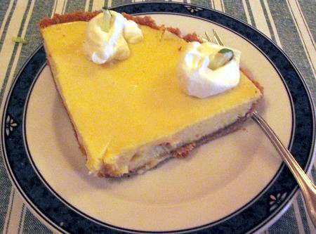[Key lime pie at the Eatery at the Depot]