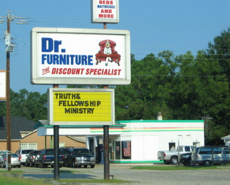 Dr. Furniture's Truth and Fellowship Ministry